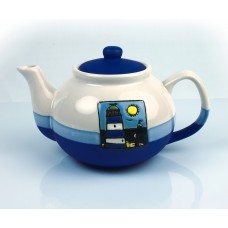 Teapot with Lighthouse, blue, 800ml