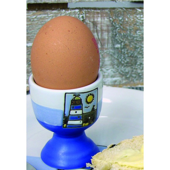 Lighthouse Egg Cup, blue