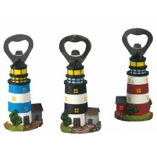 Lighthouse Bottle Opener, 12cm, 3 assorted