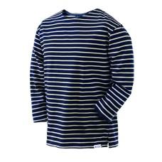Long-sleeve Breton Top, Navy/Natural, L