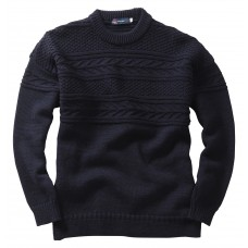 Guernsey Sweater, navy, L
