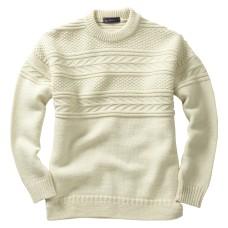 Guernsey Sweater, ecru, L