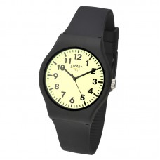 Limit Glow Dial Watch, black