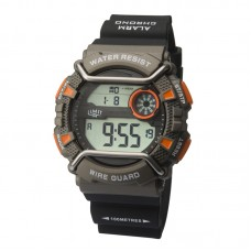 Limit Wire Guard Digital Watch, black/orange