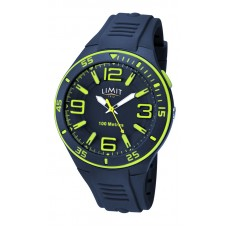 Limit Sports Watch, navy/lime