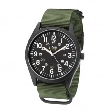 Limit Military-style Watch, black/khaki