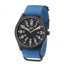 Limit Military-style Watch, black/blue