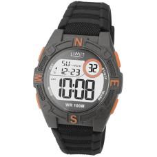 Limit Countdown Watch, grey/orange