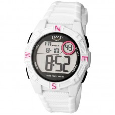 Limit Countdown Watch, white/red
